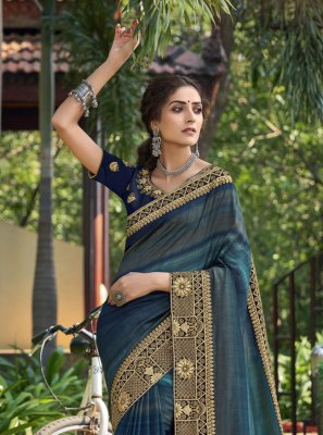Multi Colour Chanderi Classic Saree