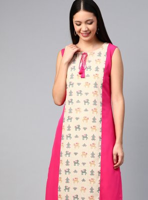 Multi Colour Color Party Wear Kurti