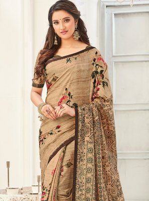 Multi Colour Color Printed Saree