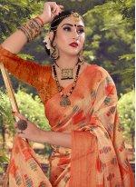 Multi Colour Cotton Contemporary Saree