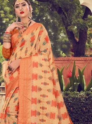 Multi Colour Cotton Contemporary Saree