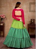 Multi Colour Cotton Sequins Lehenga Choli