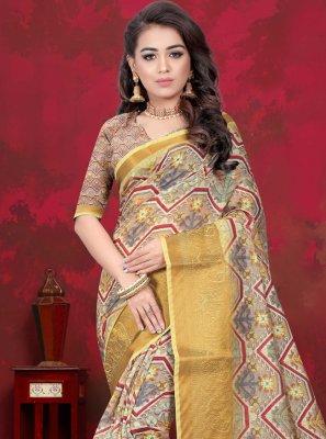Multi Colour Cotton Silk Designer Traditional Saree