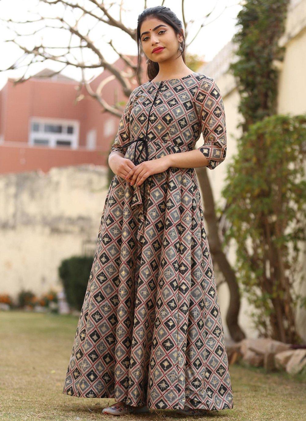 Multi Colour Designer Gown