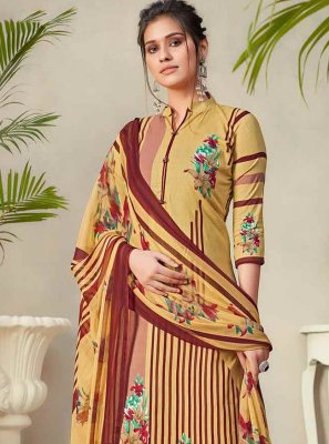 Multi Colour Digital Print Designer Palazzo Suit