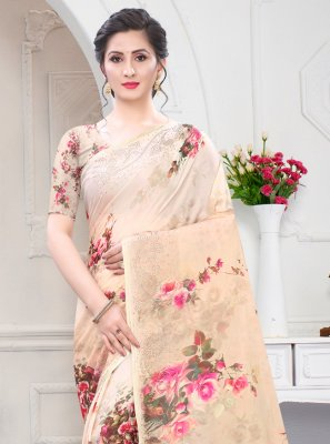 Multi Colour Digital Print Designer Saree