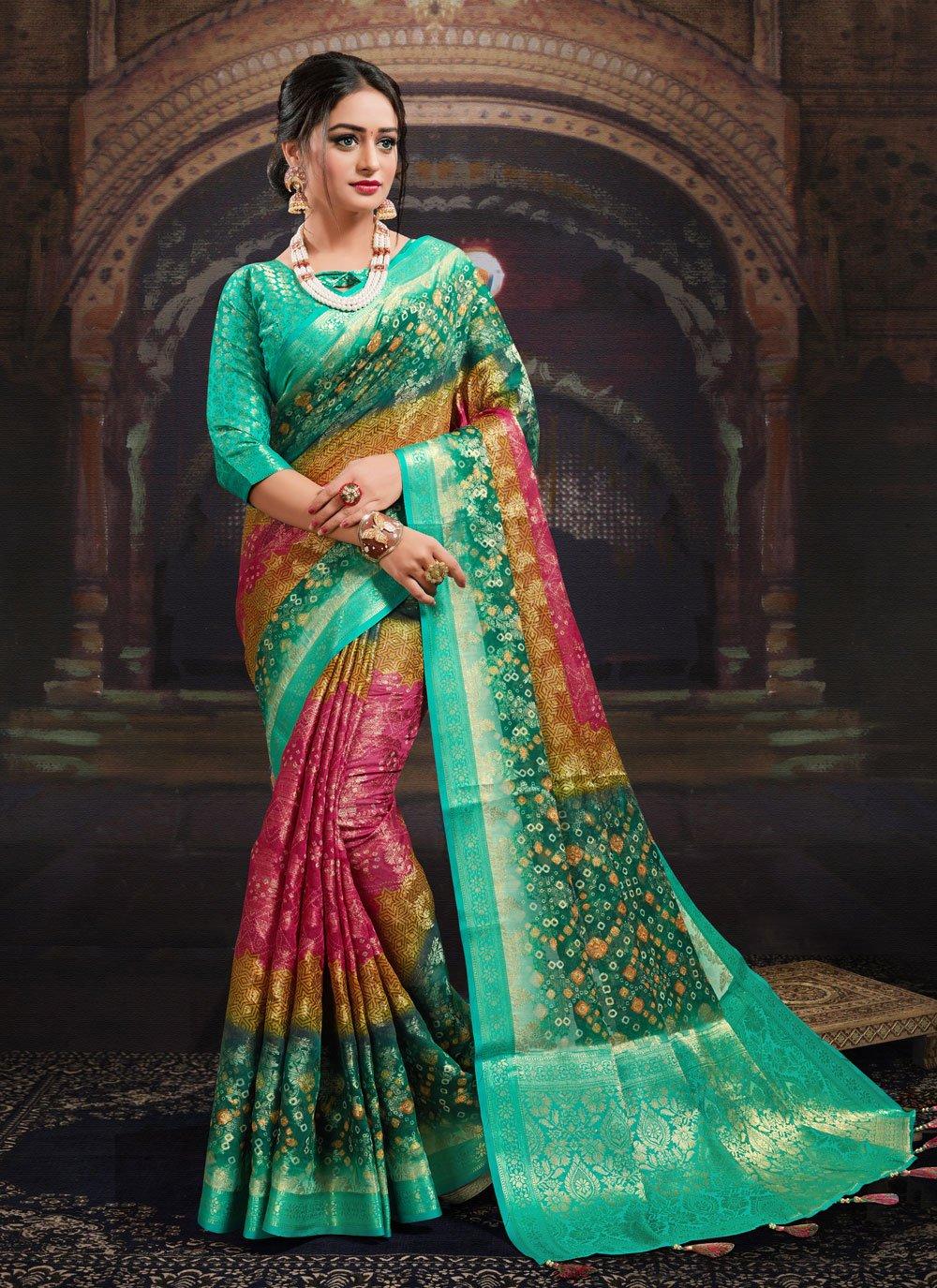 Multi Colour Digital Print Designer Saree
