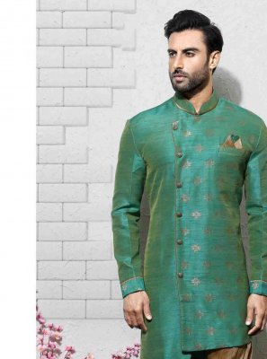 Multi Colour Embroidered Engagement Sherwani