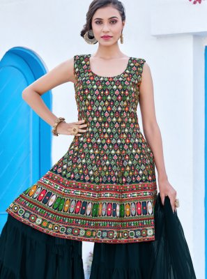 Multi Colour Embroidered Party Readymade Salwar Kameez