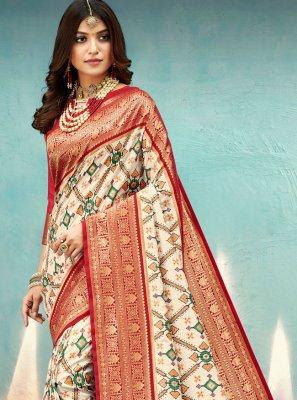 Multi Colour Engagement Traditional Designer Saree