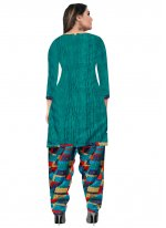 Multi Colour Fancy Fabric Casual Patiala Suit