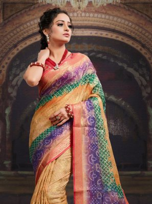 Multi Colour Fancy Fabric Digital Print Designer Saree