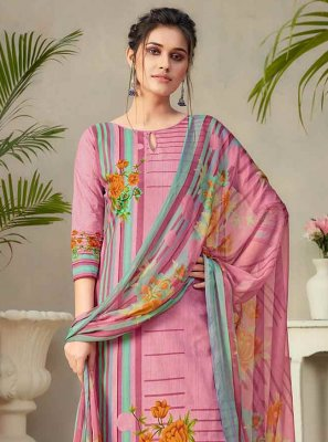 Multi Colour Fancy Fabric Palazzo Designer Salwar Kameez