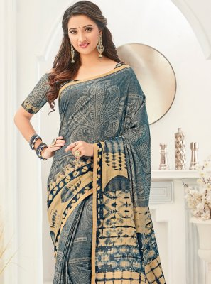 Multi Colour Fancy Fabric Printed Saree