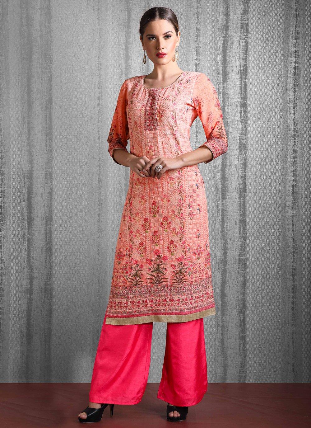 Multi Colour Fancy Fabric Readymade Suit