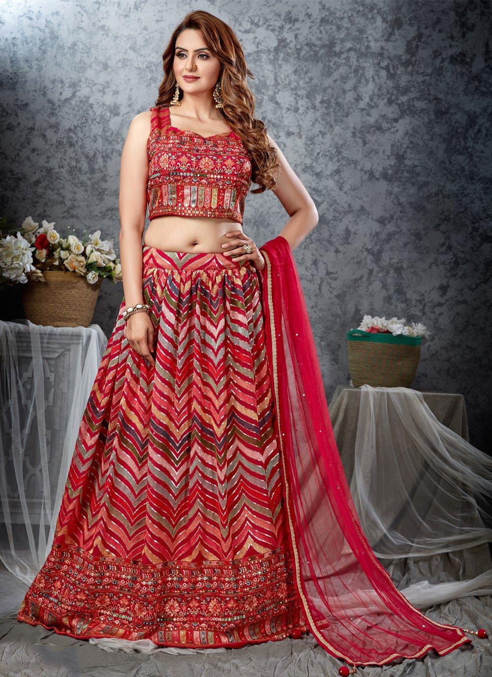 Multi Colour Fancy Mehndi Readymade Lehenga Choli