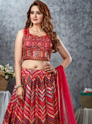 Multi Colour Fancy Mehndi Readymade Lehenga Choli
