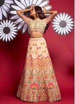 Multi Colour Fancy Sangeet A Line Lehenga Choli