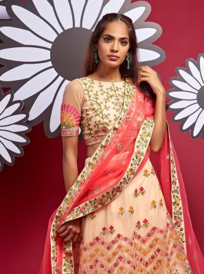 Multi Colour Fancy Sangeet A Line Lehenga Choli