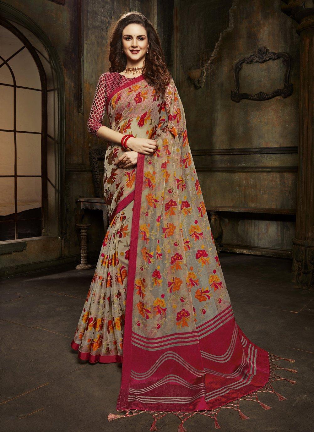 Multi Colour Fancy Sangeet Designer Saree