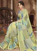Multi Colour Faux Georgette Casual Saree