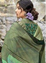 Multi Colour Festival Cotton Printed Saree
