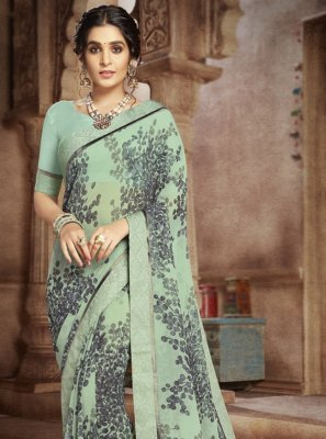 Multi Colour Festival Faux Georgette Casual Saree