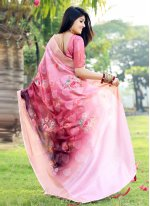 Multi Colour Festival Silk Printed Saree