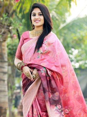 Multi Colour Festival Silk Printed Saree