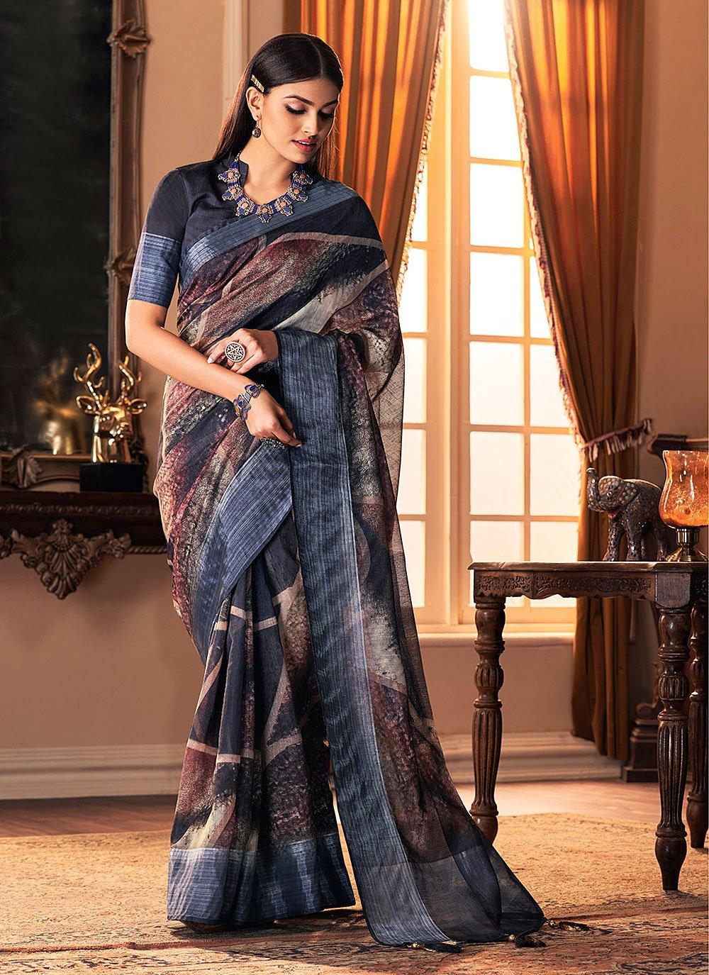 Multi Colour Festival Silk Traditional Designer Saree