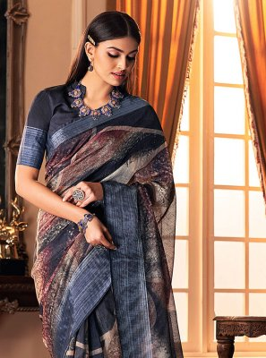 Multi Colour Festival Silk Traditional Designer Saree