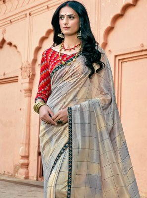 Multi Colour Floral Print Chanderi Printed Saree