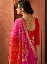 Multi Colour Floral Print Printed Saree