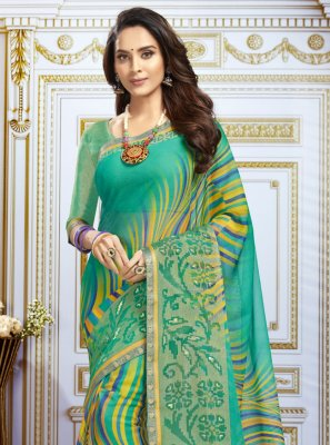 Multi Colour Georgette Trendy Saree