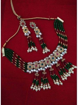 Multi Colour Moti Engagement Necklace Set