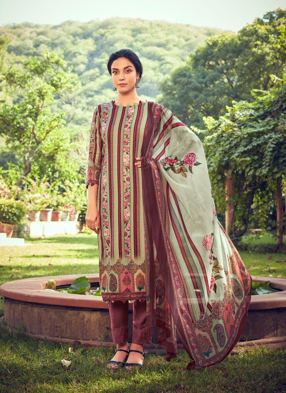 Multi Colour Pashmina Printed Designer Straight Suit