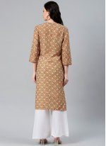 Multi Colour Polyester Festival Party Wear Kurti