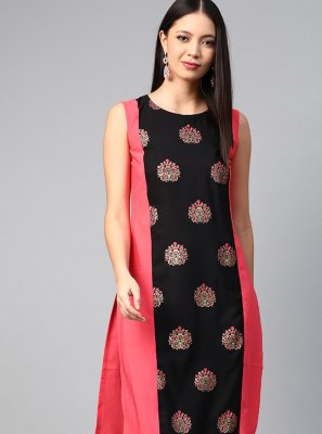 Multi Colour Print Designer Kurti