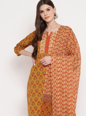 Multi Colour Print Festival Readymade Suit