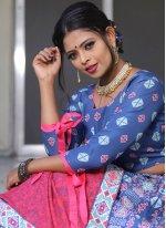 Multi Colour Print Lehenga Choli
