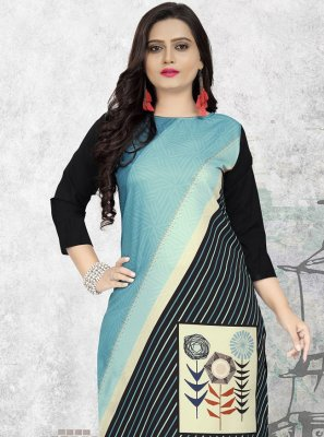 Multi Colour Print Party Wear Kurti