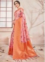 Multi Colour Print Printed Saree
