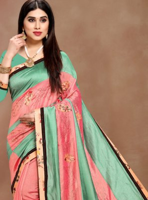 Multi Colour Printed Art Silk Bollywood Saree