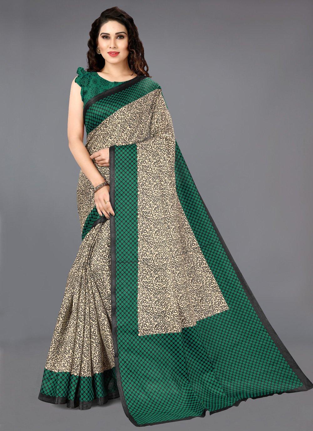 Multi Colour Printed Casual Bollywood Saree