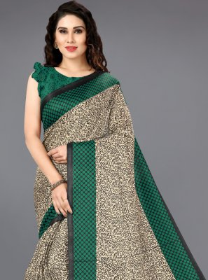 Multi Colour Printed Casual Bollywood Saree