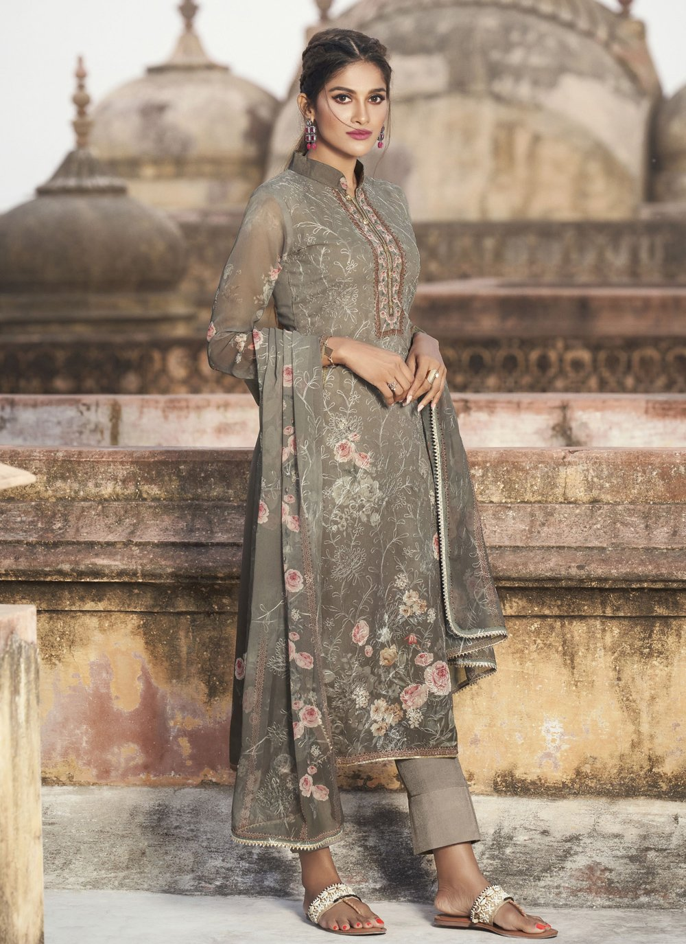 Multi Colour Printed Designer Pakistani Suit
