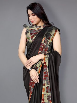 Multi Colour Printed Faux Chiffon Traditional Saree