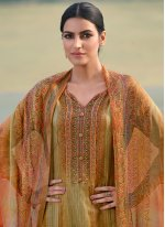 Multi Colour Printed Satin Designer Palazzo Suit