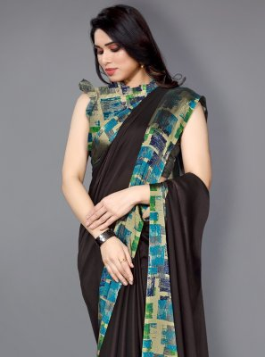 Multi Colour Printed Traditional Saree