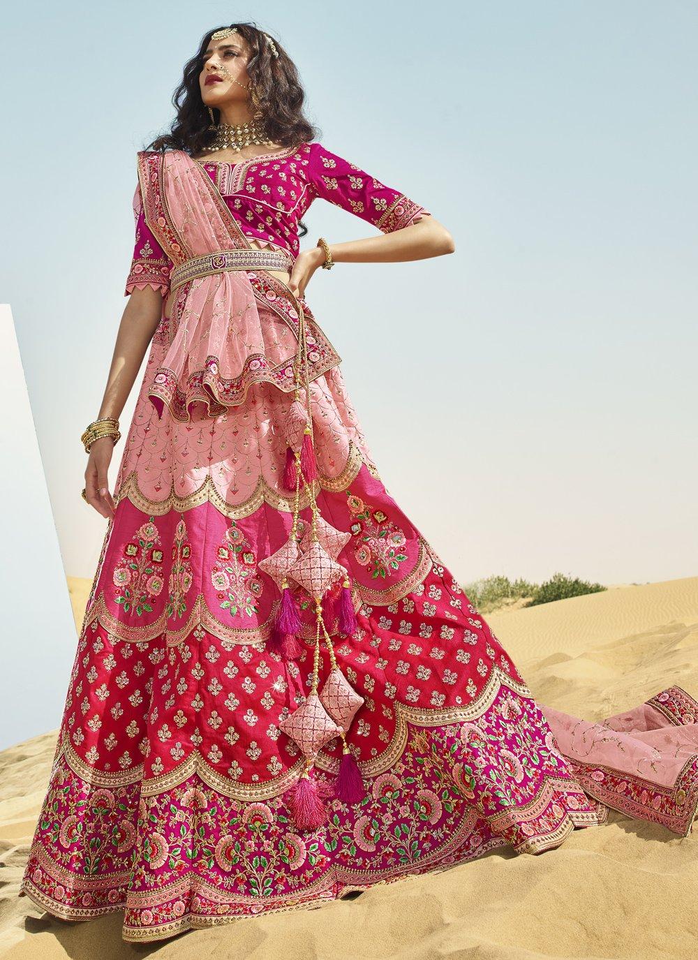 Multi Colour Sangeet Art Silk A Line Lehenga Choli